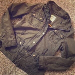 Old Navy Olive Green Military Utility Jacket